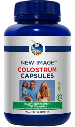 Strengthen your immune system with New Image <b>Colostrum Capsules</b>. Boost your day the colostrum way.